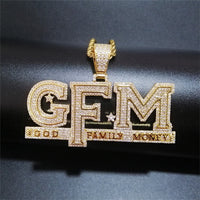 'God Family Money' GFM (Gold/White Gold) Pendant