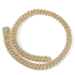 'Cubicon' Thick 15mm (Gold/White Gold) Iced Out Prong Chain - Drip For Men