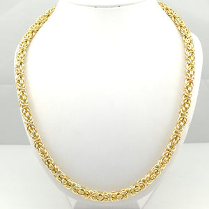 'Byzy' Trendy 7mm Gold Byzantine Chain - Drip For Men