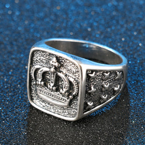 'King of Drip' Sterling Silver Crown Ring - Drip For Men