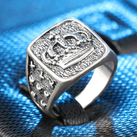 'King of Drip' Sterling Silver Crown Ring