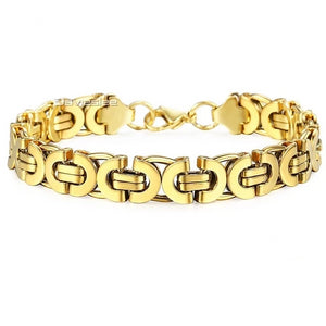 'Geo-Drip' Geometric Gold and White Gold Bracelet - Drip For Men
