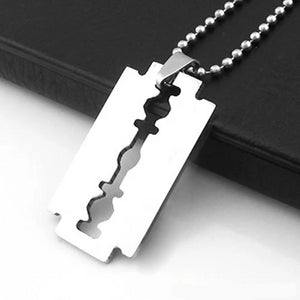 'The Cutting Edge' Stainless Steel Razor Blade Chain - Drip For Men