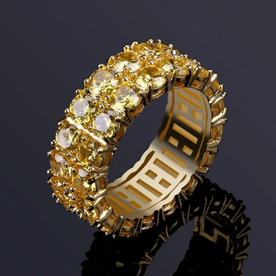 'Sunrise' Golden Yellow Diamond Ring - Drip For Men