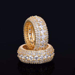 'Glacier' Icy Gold and White Gold Ring - Drip For Men
