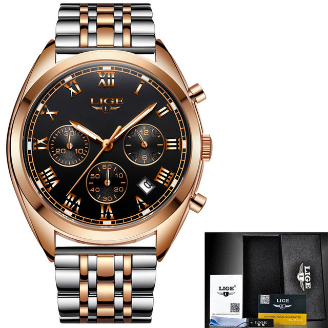 'Drip Lux' Luxury Gold and White Gold Waterproof Wristwatch - Drip For Men