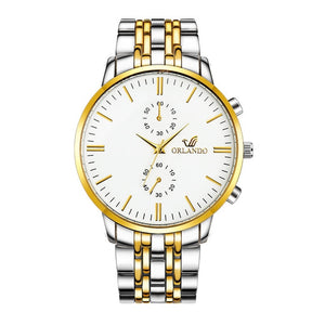 'Florida Palms' Luxurious Gold and White Gold Wristwatch - Drip For Men