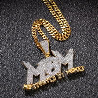 'MBM' Motivated By Money (Gold/White Gold) Pendant