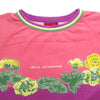 Best Company Floral Graphic Short Sleeve Sweatshirt circa 1980's