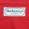 Burberrys Of London Women's Red Corduroy Long Sleeve Shirt circa 1980's