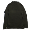 Stone Island Crew Neck Green Ribbed Knit Jumper circa 2000's