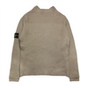 Stone Island AW 2003 Crew Neck Tan Ribbed Knit Jumper