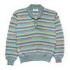 Missoni Sport Woven 1/4 Button Pattern Knit Jumper circa 1980's