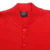 Paul & Shark 1/4 Button Crew Neck Red Jumper circa 1990's