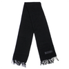 Moschino Embroidered Logo Black Wool Scarf Circa 2000's