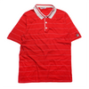 Fila Red Striped Polo Shirt circa 1980's