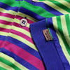 Missoni Sport Multicolour Striped Polo Shirt circa 1980's
