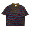 Valentino Sport Striped Pattern Polo Shirt circa 1980's