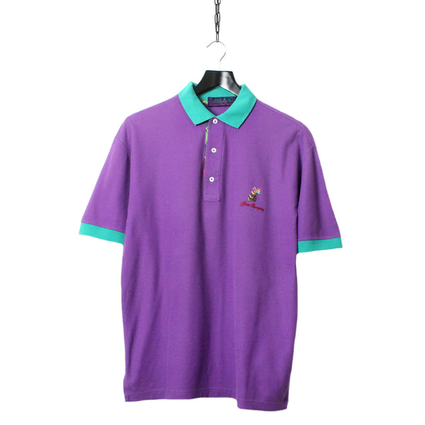 Best Company Embroidered Purple Polo Shirt Circa 1980 S Too Hot