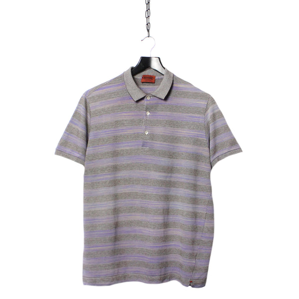 354891a50 Misson Patterned Striped Polo Shirt circa 1980 s