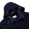 CP Company X One Block Down Overdyed Denim Navy Goggle Jacket