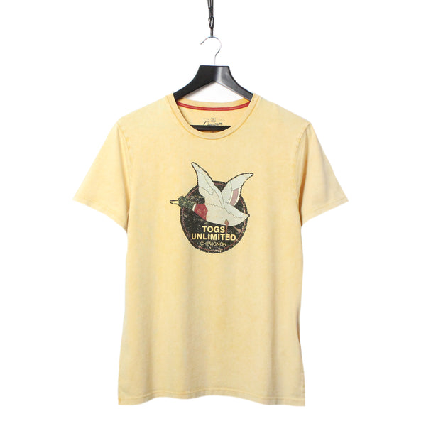 ef49b88896d CHEVIGNON TOG S UNLIMITED SS19 PALE YELLOW PRINTED T-SHIRT   TOO HOT