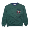Iceberg Ice Sport 'Love Match' Embroidered Sweatshirt circa 1990's