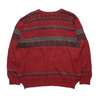 Chemise Lacoste Red Pattern Knit Jumper circa 1980's