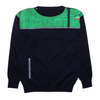 Paul & Shark Panelled Crew Neck Knit Jumper circa 1980's