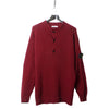 Stone Island AW 1992 1/4 Button Burgundy Knit Jumper