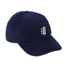 TOO HOT Navy Blue Needle Cord Embroidered Logo Cap