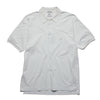CP Company White Embroidered Polo Shirt