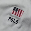 Ralph Lauren White Polo Sport USA Zip Up Hoody circa 1990's