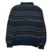 Missoni Multicolour Zig Zag Patterned Knit Long Sleeve Polo circa 1980's