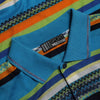 Missoni Sport Striped Polo Shirt circa 1990's