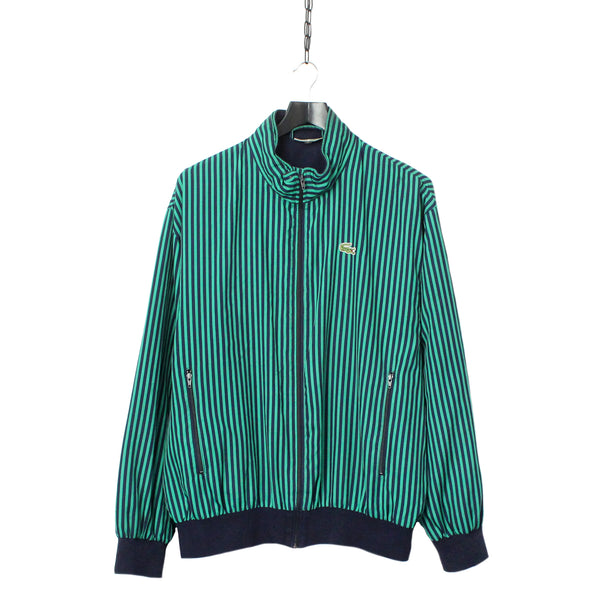 eaa8b9c49be9 Chemise Lacoste Pinstriped Lined Windbreaker Jacket circa 1980 s