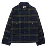 Nigel Cabourn Lybro USMC Shirt In RAF Grey Check
