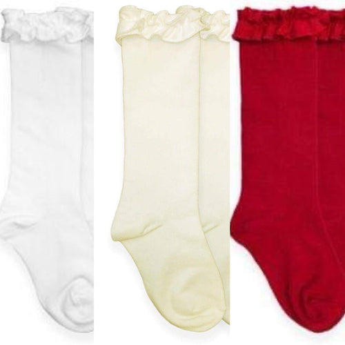 Jeffries Socks Ruffle Knee High Socks