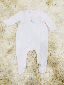 Precious Lamb Embroidered Collared Footed Pajama