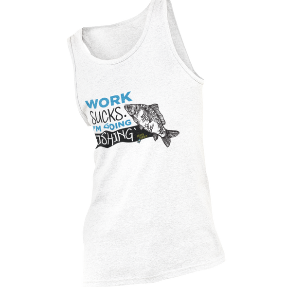 Work sucks. I'm going fishing -  Herren Tank top