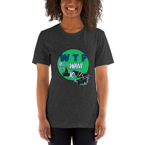 Want to fish - Damen T-shirt