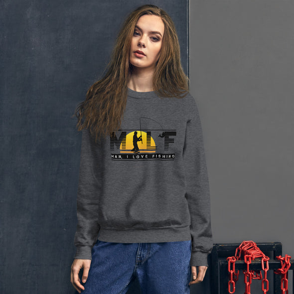 MILF – Man, I love Fishing - Damen Sweatshirt