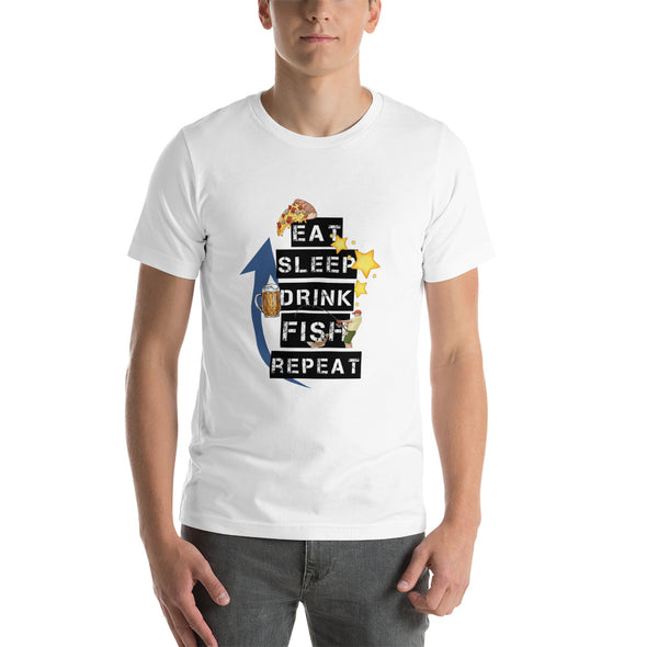 Eat. Sleep. Drink. Fish. Repeat. - Herren T-shirt