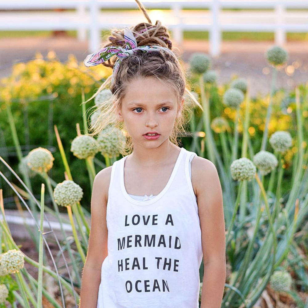 Love A mermaid, Heal The Ocean Tank - Love Threads