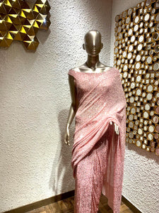 Sequin Stitched Saree For Women