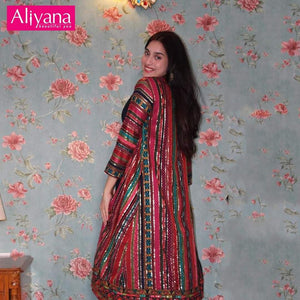 Indo Western Dress With Layered Inner For Women