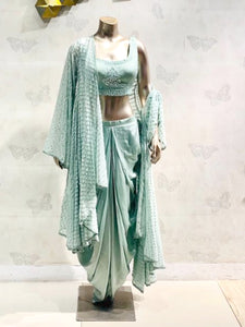 Indo Western With Dhoti and Shrug
