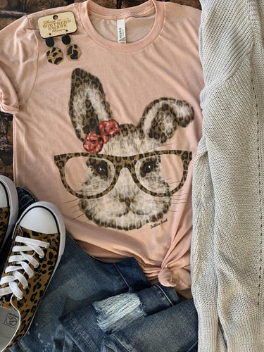 Leopard Bunny With Glasses - Southern Swank Wholesale
