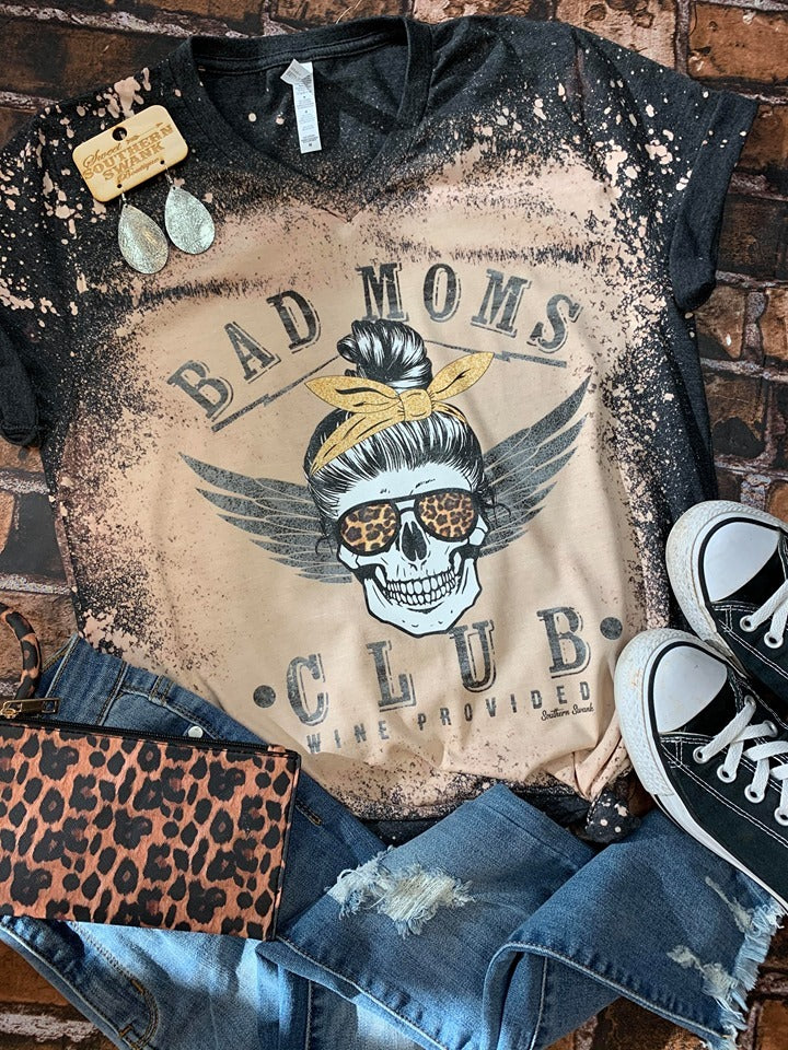 Distressed Bad Moms Club - Southern Swank Wholesale