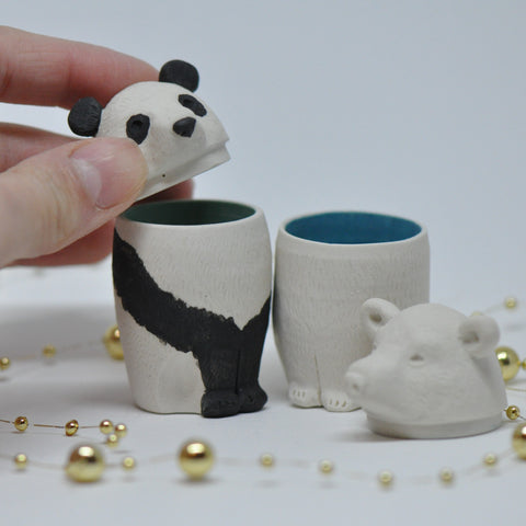 Panda Ceramic Canopic Jar